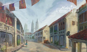 Malaysia Street view by christon-clivef