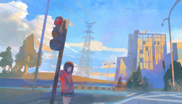 doodle- road