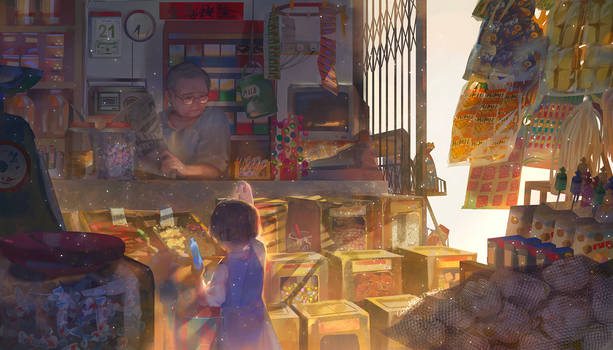 Happiness in magical store