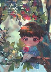 Commission- Charlie on hawthorn tree