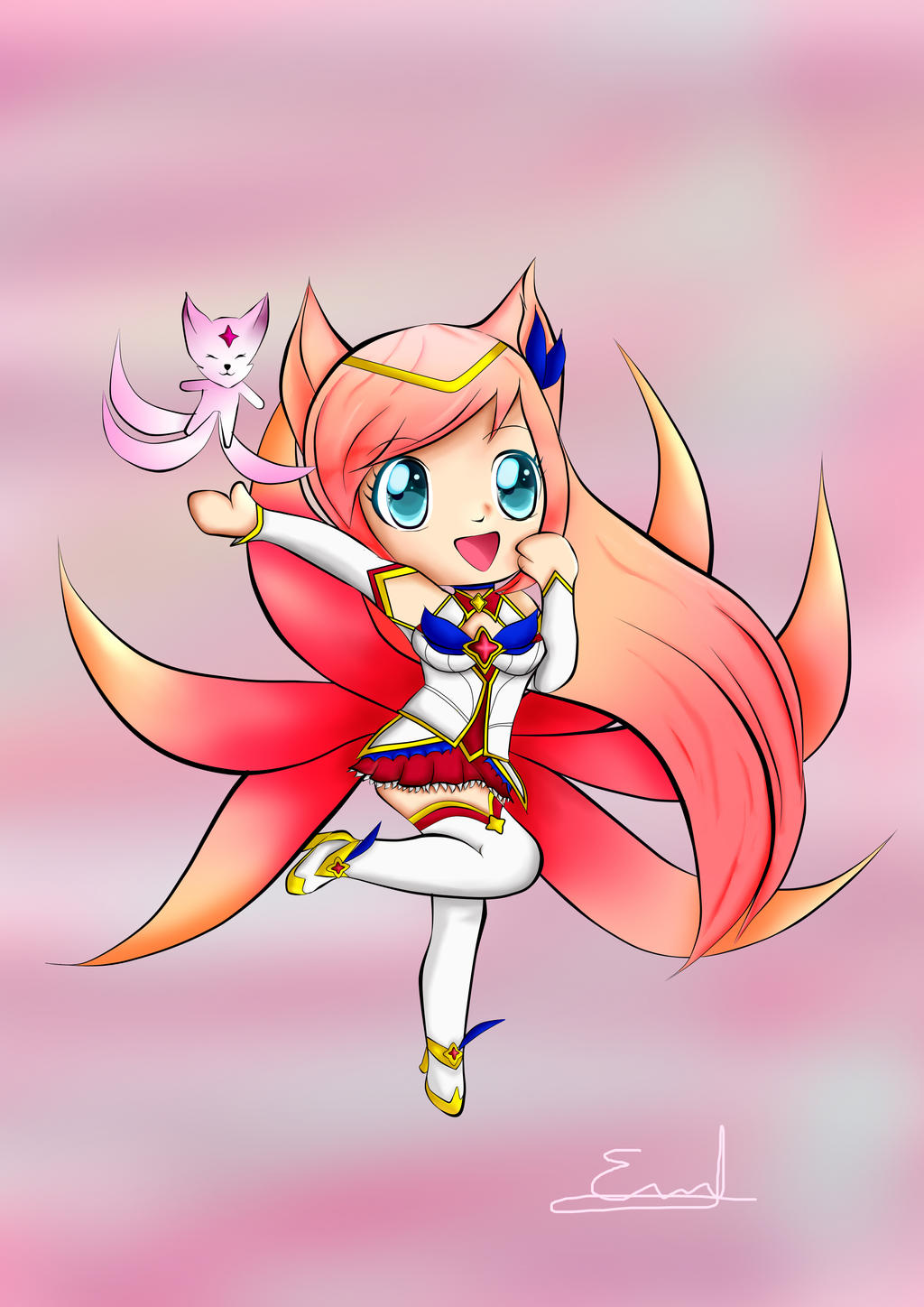 Star Guardian Chibi Ahri by Dreamanie