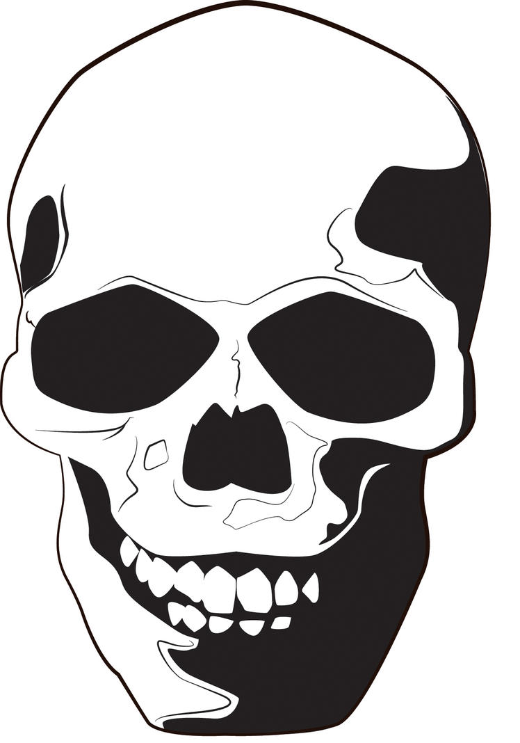 Skull vector by sgraffito on deviantart
