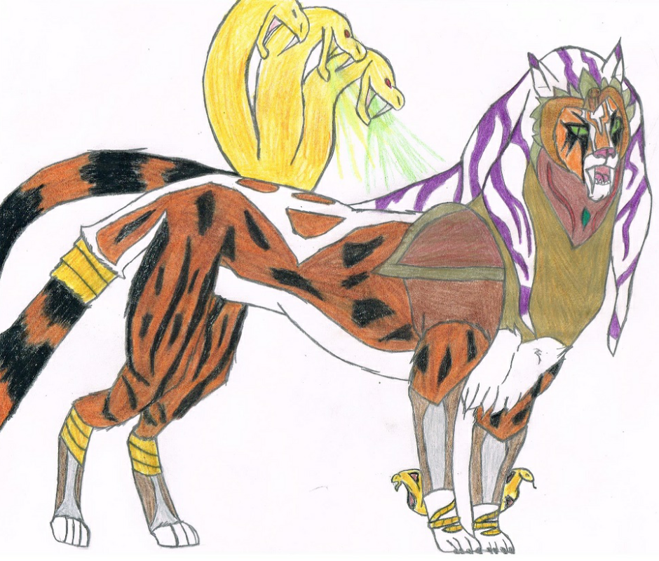 Feralpatra's legendary form: Nilegruta by Growlie26