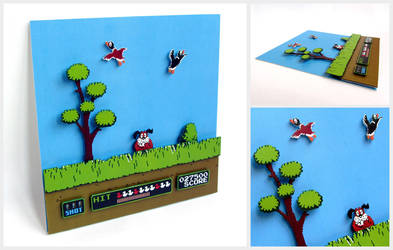 NES Duck Hunt Diorama
