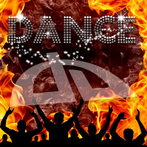 Dance poster hot devilish flames by bertold