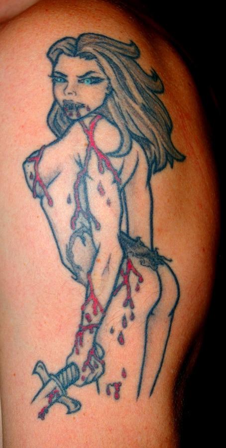 vampire mistress - shoulder tattoo