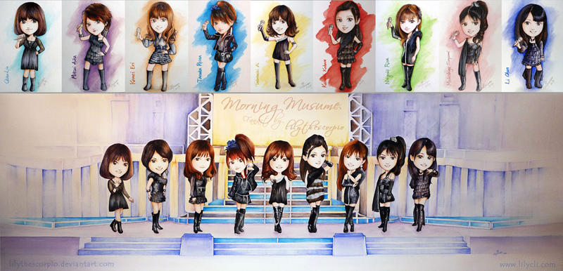 Morning Musume - commission by lilythescorpio