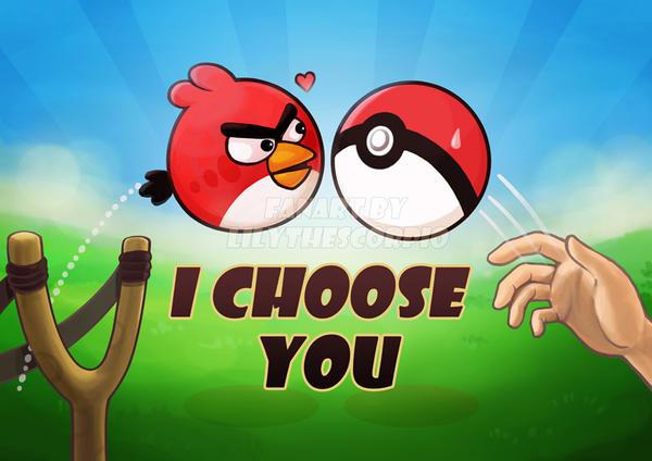 Angry Birds vs Pokemon by lilythescorpio