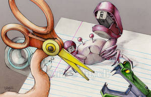 Stationery War by lilythescorpio