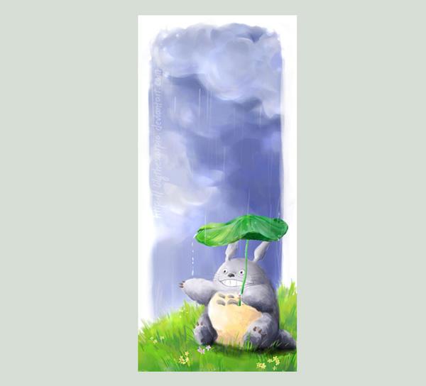 Totoro - Rainy Day by lilythescorpio on DeviantArt