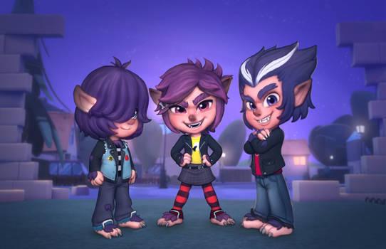The wolfie kids