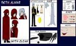 Seth Almar Reference Sheet v.1 by Sakura-wind