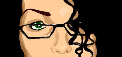 Facebook graffito: green eye by Lady-Magenta