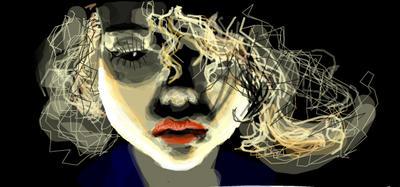Facebook graffito: black eye by Lady-Magenta