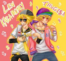 Thugisa and Len kagamoney by AdversusZero