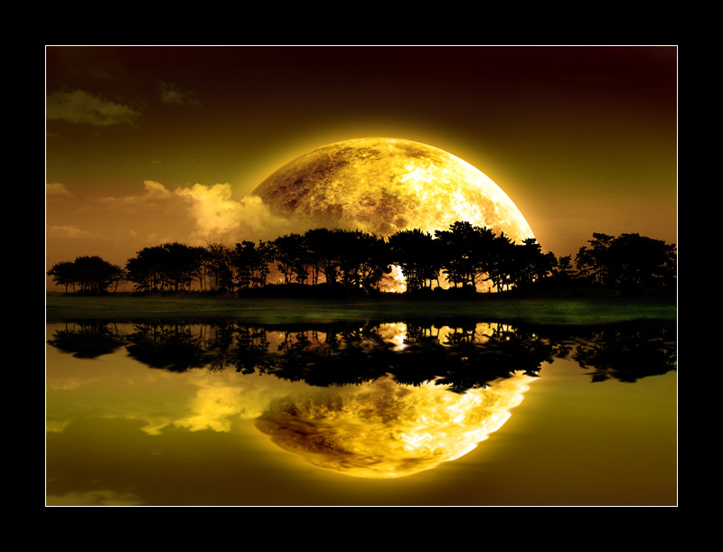 Moon reflection by nico-blue