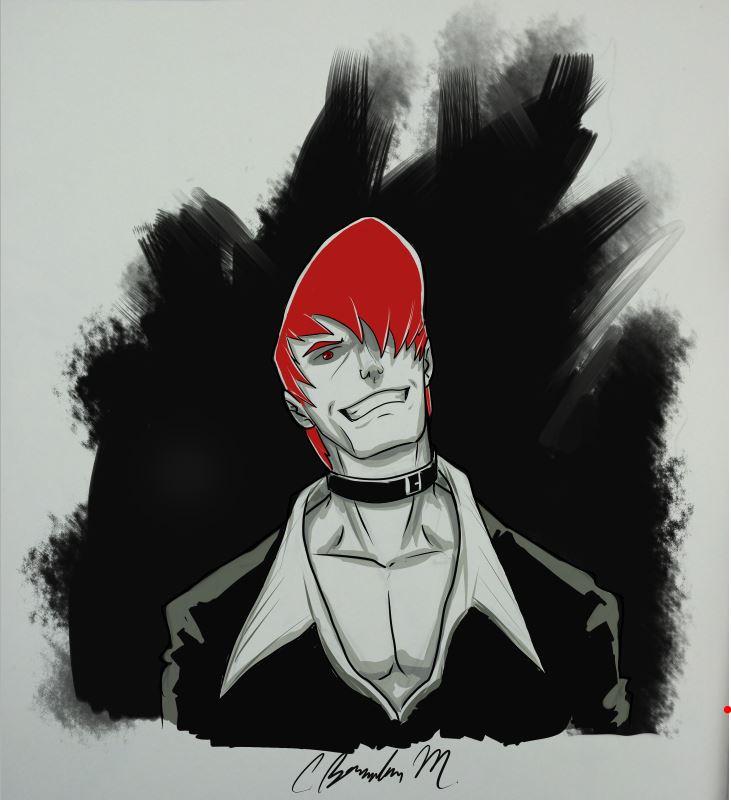 Iori Yagami Sketch by BMendoza22