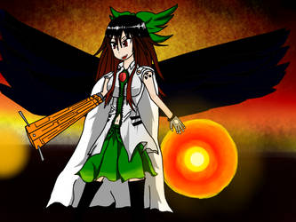 Utsuho Fired Up by Melanchomelody