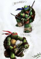 Leo and Raph PHASE III by WrozbitaMadziej