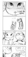 Say it! (Mikey|Raph short comic)