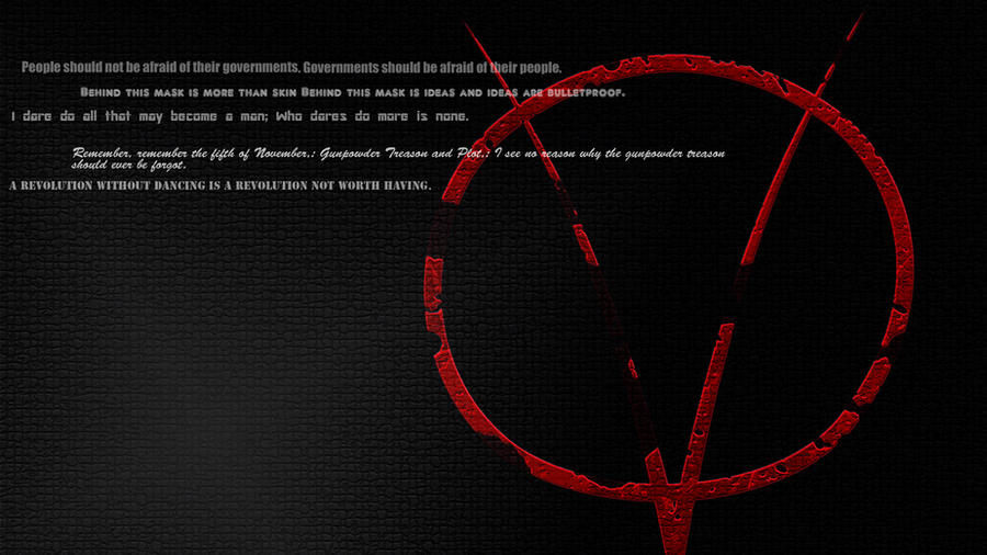 V For Vendetta Wallpaper Widescreen