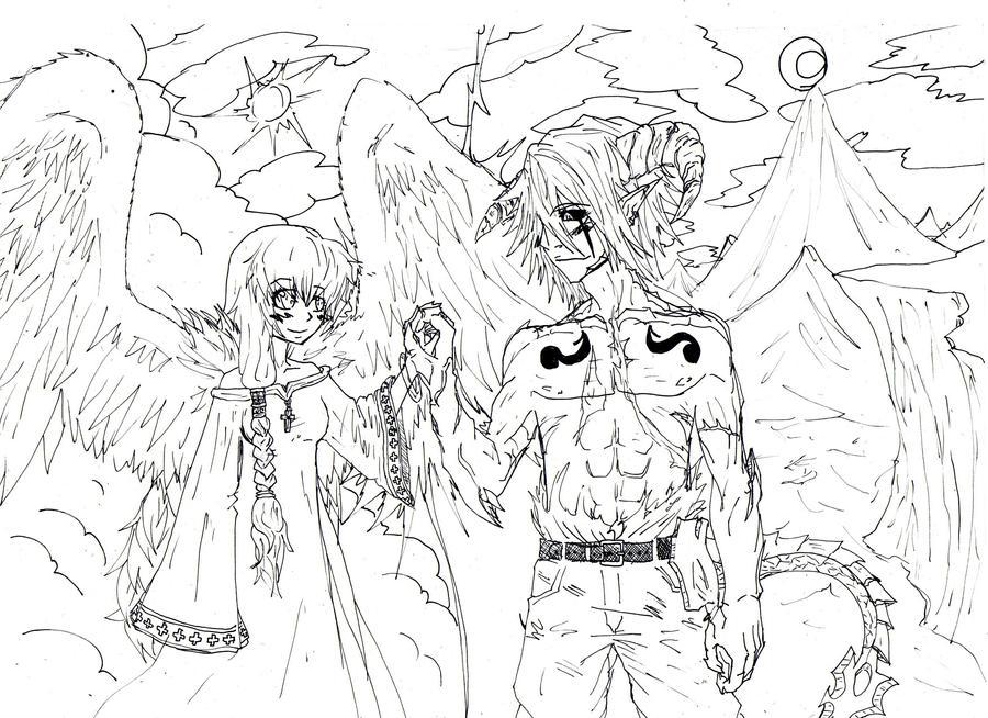 angel y demonio by uroboros969 on DeviantArt