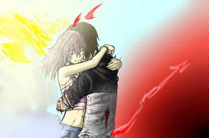 fan art bak inferno (practica de abrazos)
