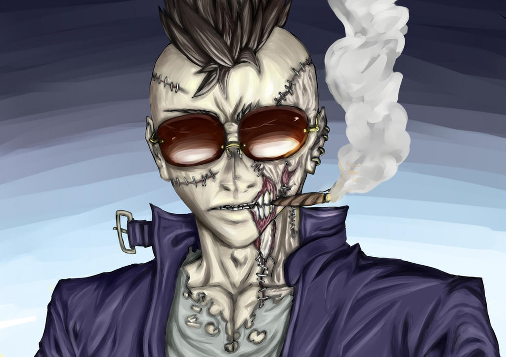 zombie punk by uroboros969