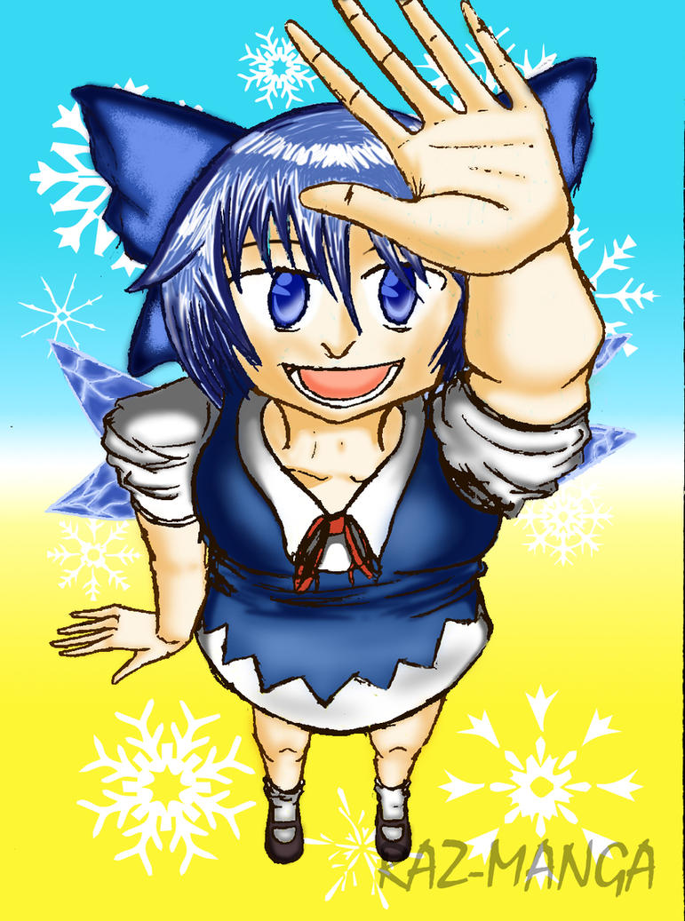 Cirno The Ice Fairy by Raz-Manga