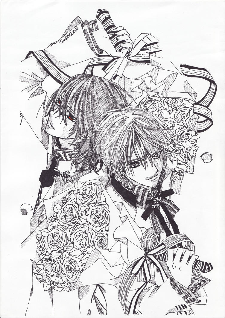 Fourth tribute vampire knight by claire maeda on deviantart for Vampire knight coloring pages