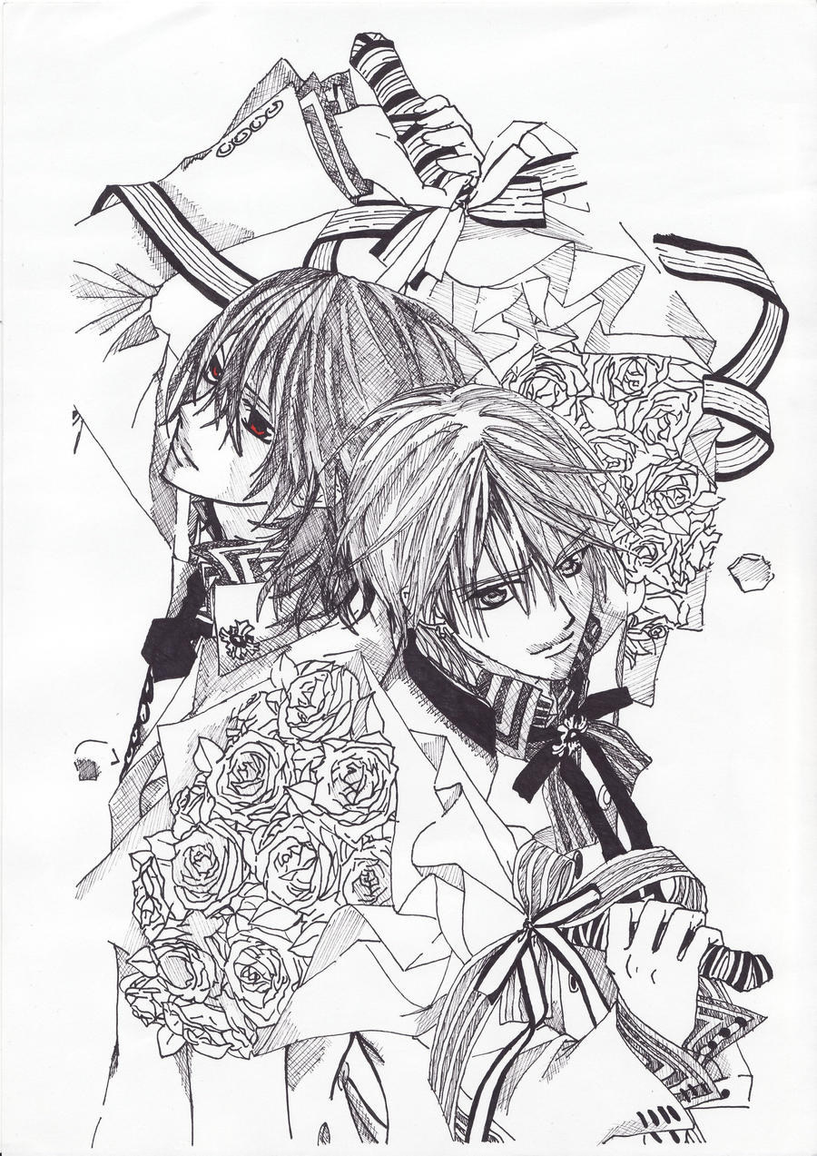 anime vampire knight coloring pages - photo#28