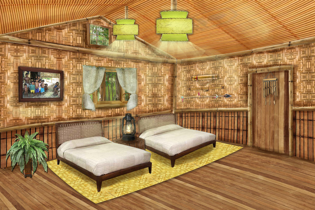 original nipa hut in the philippines interior design for