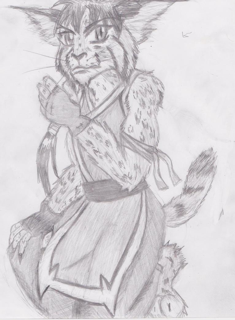 anthro Bobcat guy by OhioErieCanalGirl