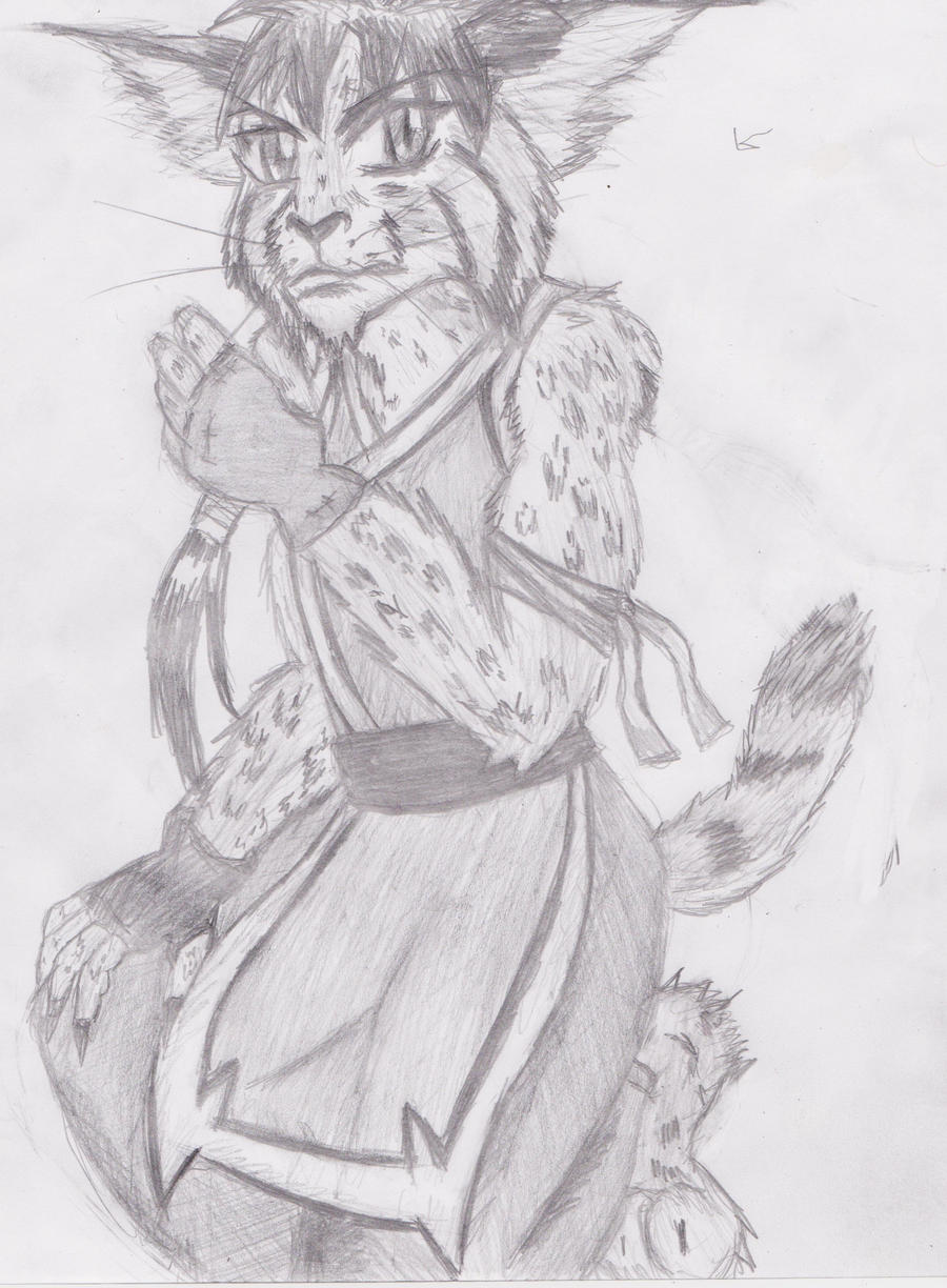 anthro Bobcat guy by OhioErieCanalGirl