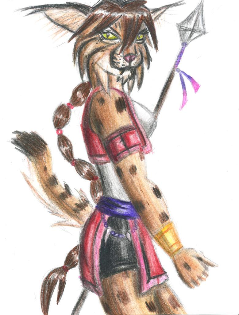 Spear  Hunter in Red by OhioErieCanalGirl