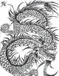BW ink  Dragon 2