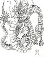 Chinese Dragon in Pencil by OhioErieCanalGirl