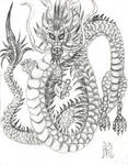 Chinese Dragon in Pencil