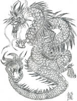 Chinese Dragon Pencil by OhioErieCanalGirl