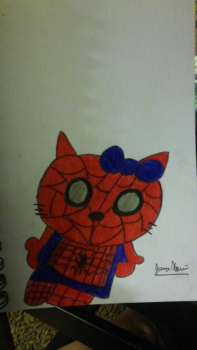 hello kitty spiderman by xjennakillzx