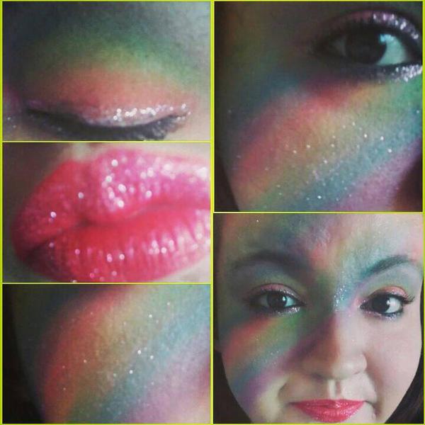 Rainbow Makeup  by xjennakillzx