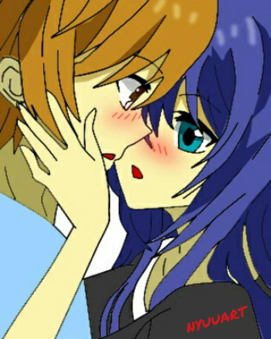 Anime kiss by NyuuArt
