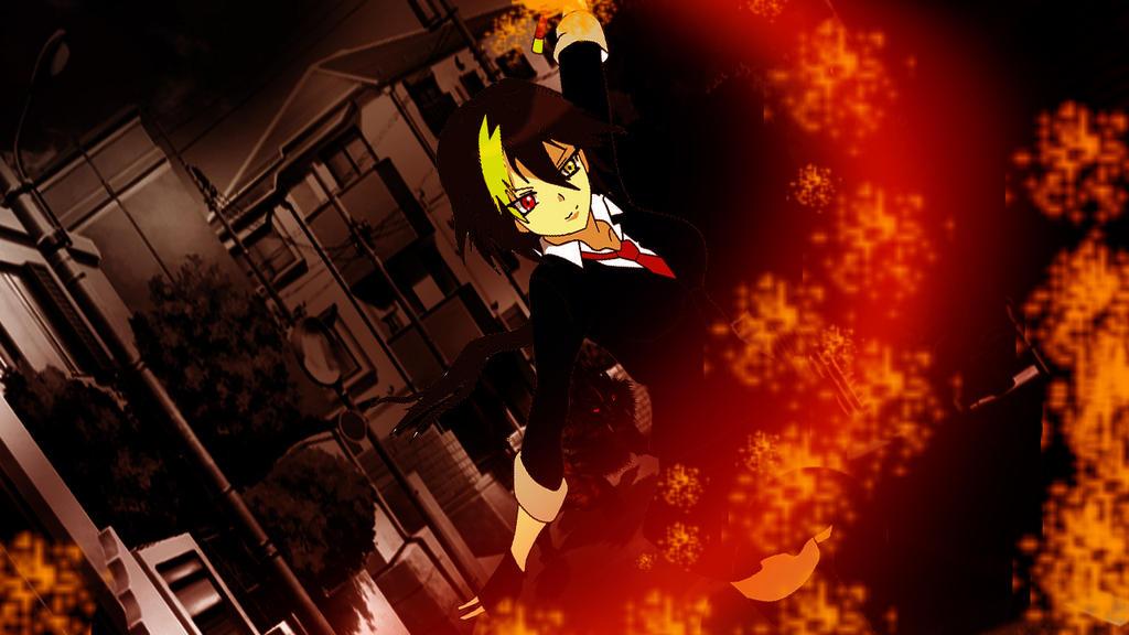 anime flame sword  by NyuuArt