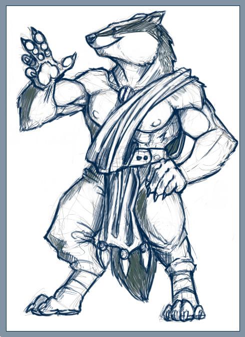 Badger Lord of Salamandastron by KaiserFlames