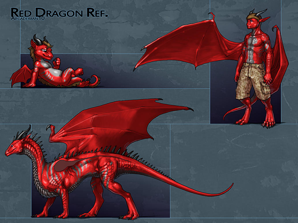 Red Dragon Reference by KaiserFlames