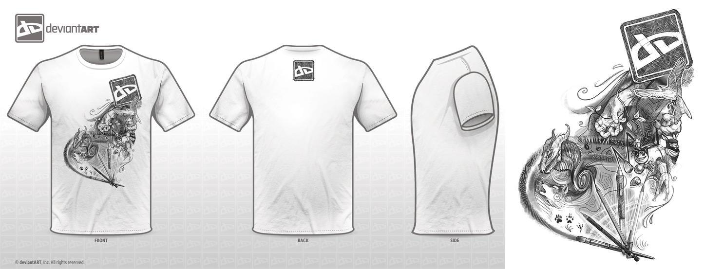 Kai's deviantART Shirt Design by KaiserFlames
