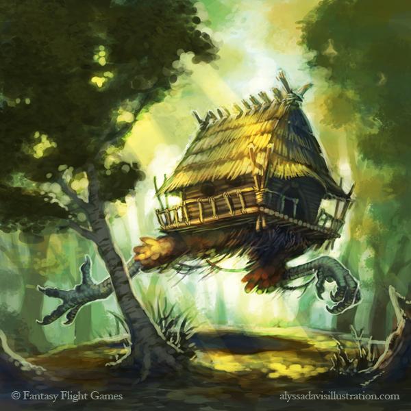 Baba Yaga's Hut by KaiserFlames