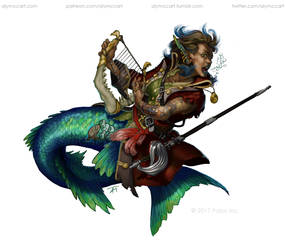 Paizo - Merfolk Hero by KaiserFlames