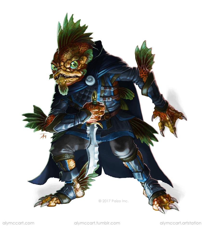 Paizo - Locathah Rogue by KaiserFlames