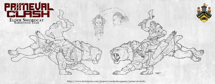Primeval Clash - Elder Swordcat